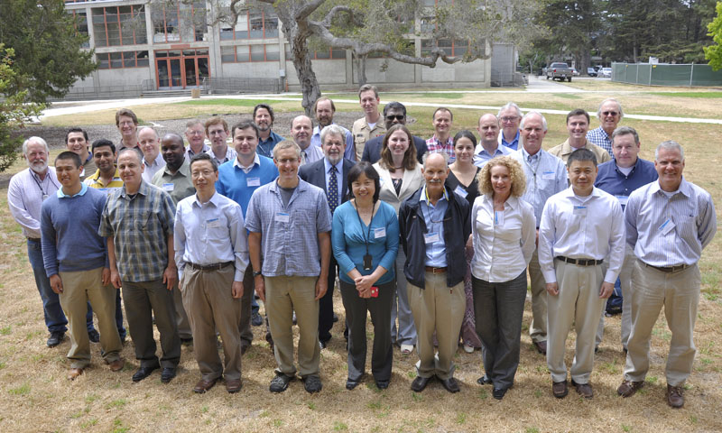 NPS Department of Meteorology Professor Qing Wang, front center, is pictured with the multidisciplinary group of scientists and researchers participating in the Coupled Air-Sea Process and EM Refraction (CASPER) program, August 5.