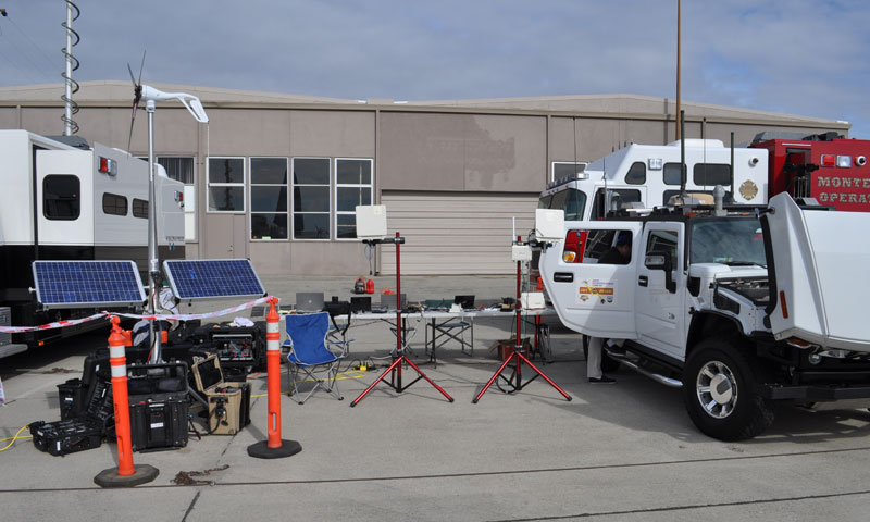 Ready to deploy at a moment's notice, NPS' Hastily Formed Networks team has developed a self-contained Emergency Operations Center, which can be transported in airline-checkable luggage and used as mobile communications center in disaster and emergency response efforts worldwide.