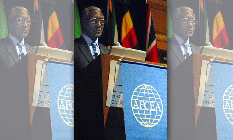 Senegalese General Lamine Cisse speaks at the Cultural Organizational Awareness Forum in Monterey, Calif., June 14, 2011.
