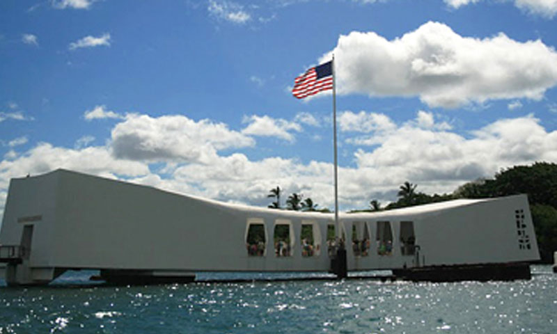 In addition to touring several DoD and industry facilities, the group of distance learning students also visited the USS Arizona Memorial, the final resting place of more than 1,100 Sailors who lost their lives on the Arizona on the December 1941 attack on Pearl Harbor.