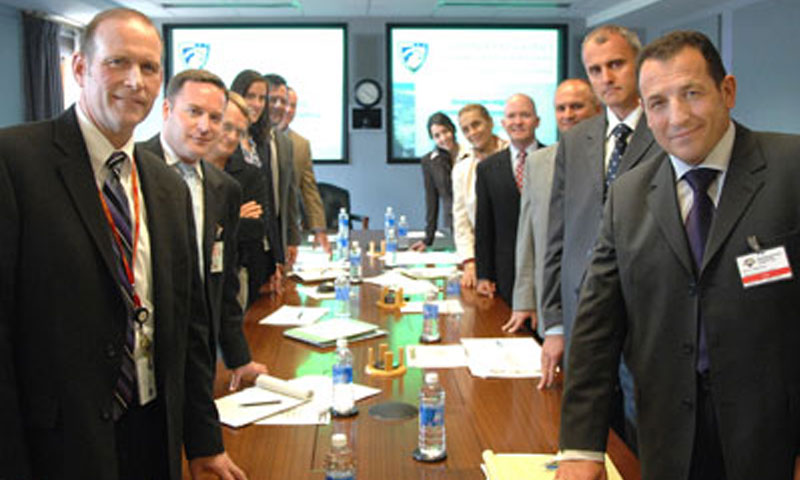 Bosnian Minister of Defense, Dr. Selmo Cikoti?, engages leadership from NPS as the designated U.S. Partnership for Peace Training and Education Center (USPTC) in discussion about the development of defines-relevant curriculum during a visit to the university on June 29.