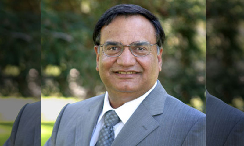 DURIP Award winner Mechanical and Aerospace Engineering Distinguished Professor Brij Agrawal, Director of the NPS Spacecraft Research and Design Center.