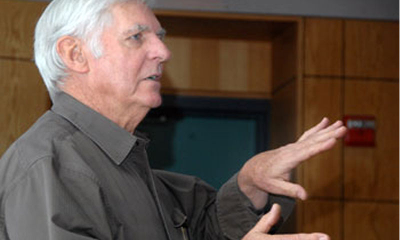 Aviator Dick Rutan shares the details of his non-stop un-refueled flight around the world. On April 2nd, Rutan spoke with NPS students, faculty and guests about the monumental task of designing and building a plane that could handle the trip.