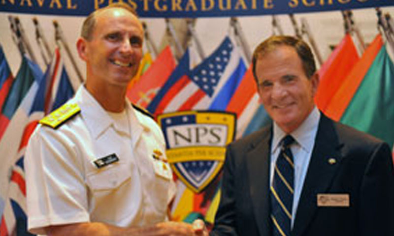 """Vice CNO Adm. Jonathan Greenert spoke to attendees and lauded the quality education NPS provides, saying, """"the best that I've worked with [in financial management] are graduates of this institution."""""""