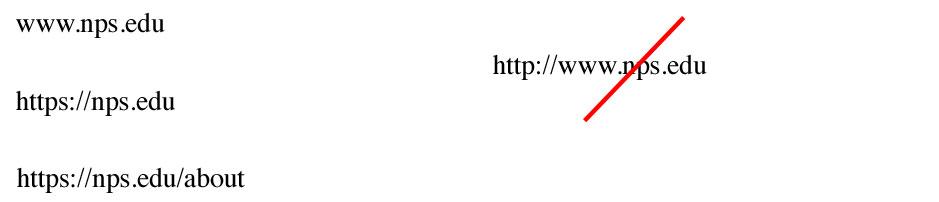 Web Addresses