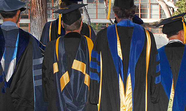 Faculty robes, view from back