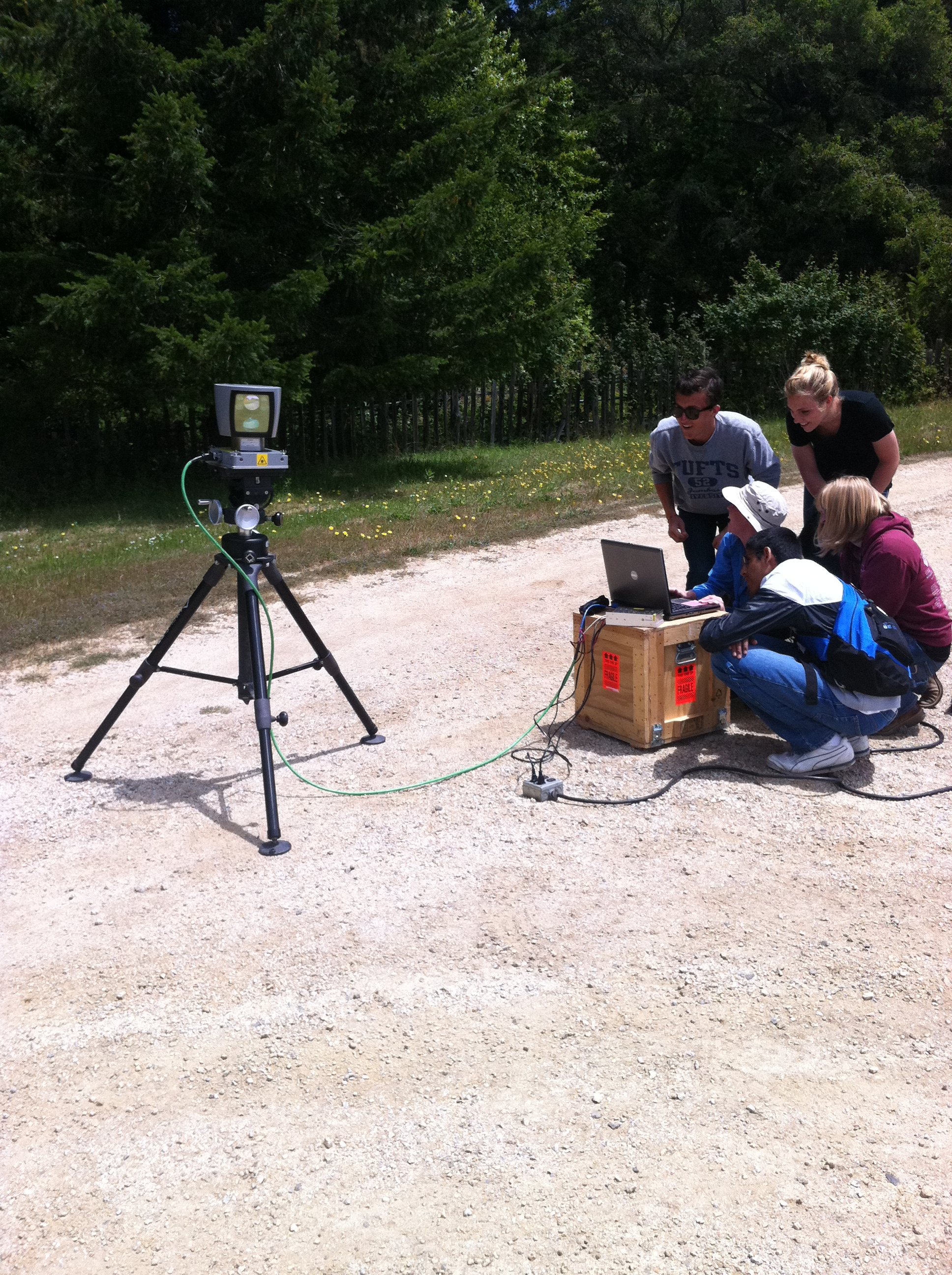 Remote Sensing Center summer interns collect LiDAR data in the Santa Cruz Mountains, CA