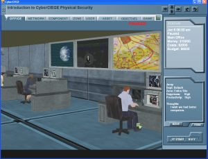 cybersecurity video game screen shot