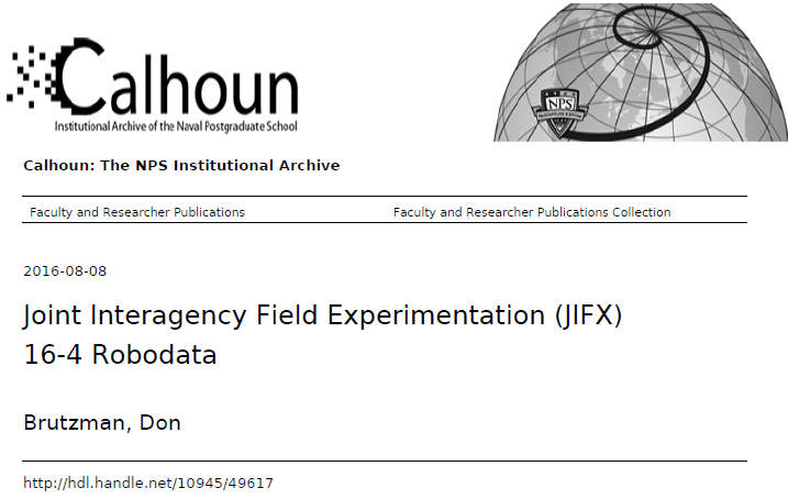 Calhoun catalog entry for JIFX 2016-4
