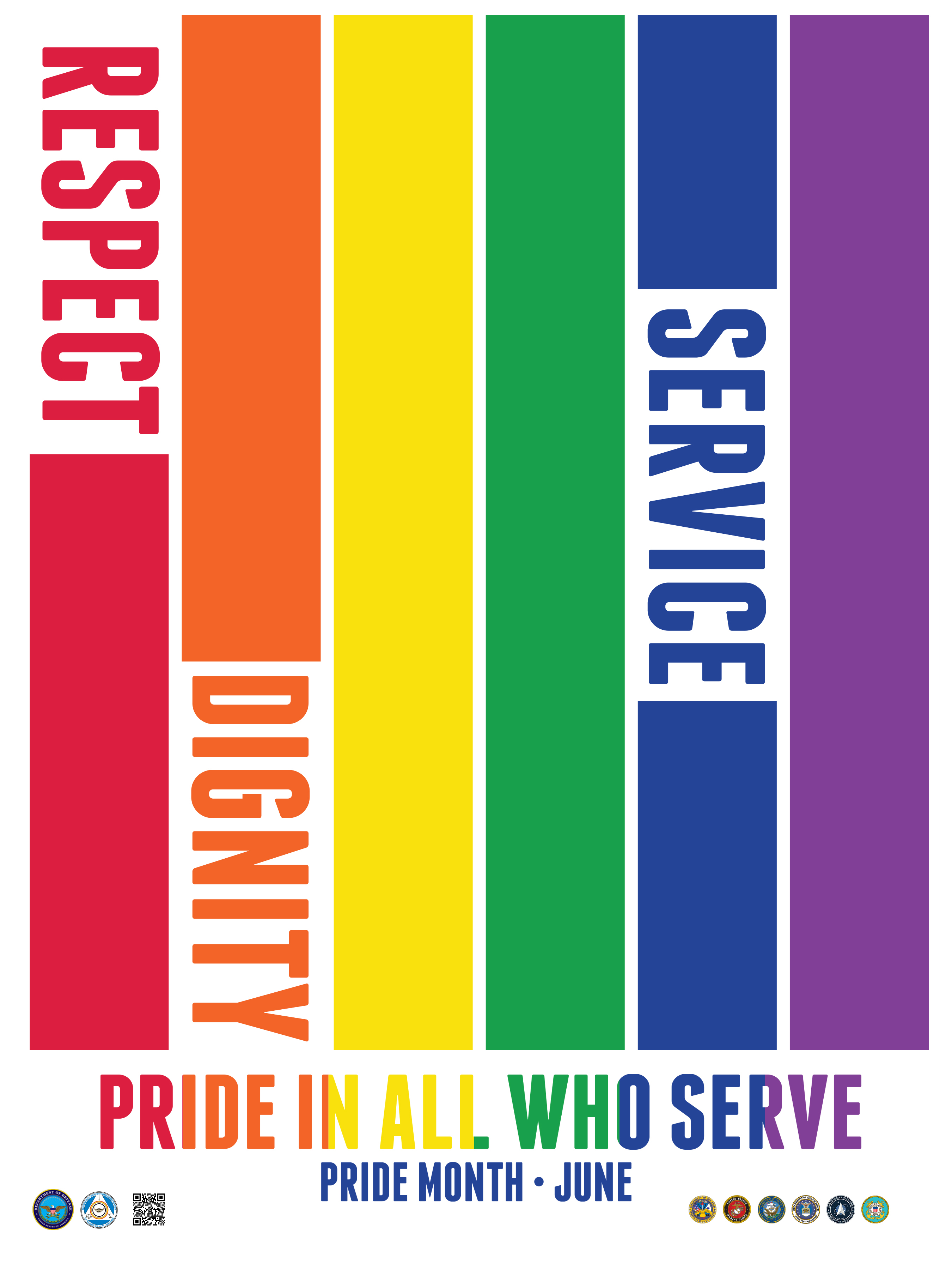 In recognition of June as Lesbian, Gay, Bisexual, and Transgender (LGBT) Pride Month, DOD celebrates the dedication and contributions our LGBT service members and civilians have had on our National Security and the Department of Defense (DoD)