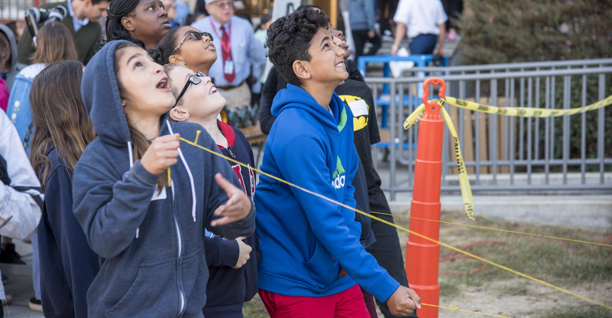 Discover NPS Day 2018 Story Image - Kids launching bottle rockets