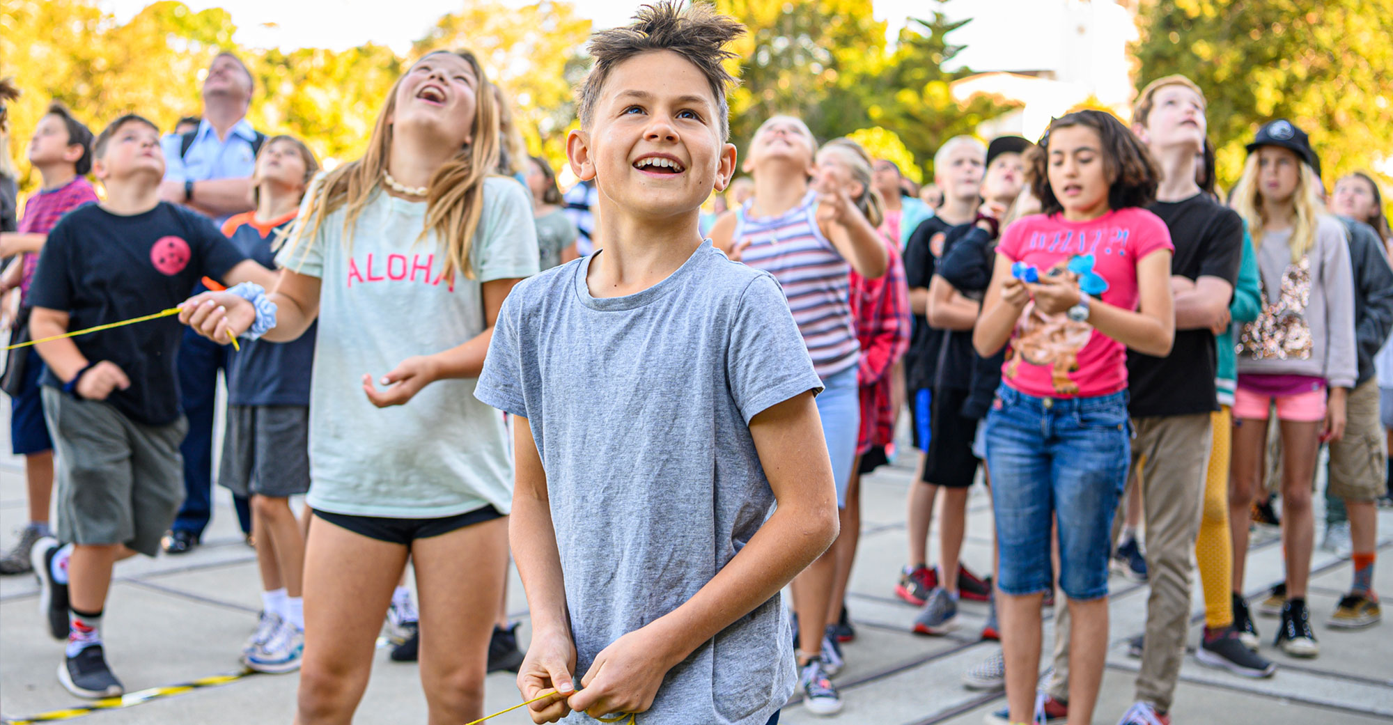 Discover NPS Day 2019 Story Image - Kids launching bottle rockets