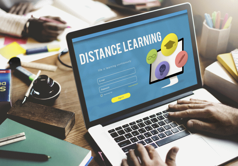 Teaching and Learning, Distance Learning Graphic
