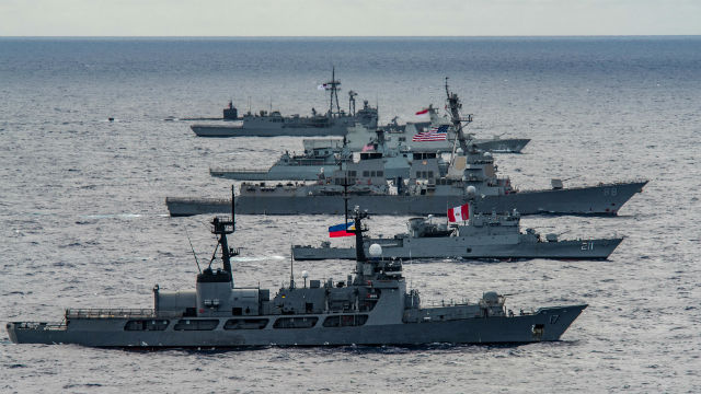 Ships flags RIMPAC 2018