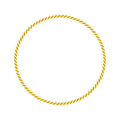 Golden rope that circles the ISG logo