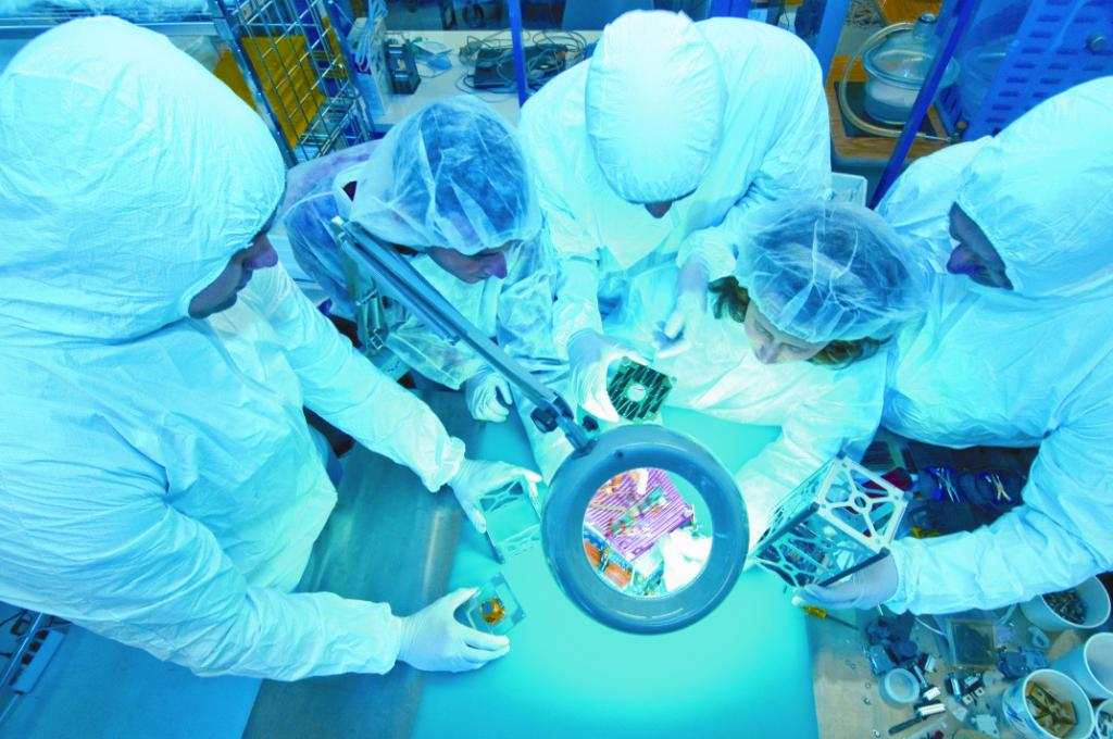 CubeSat in clean room