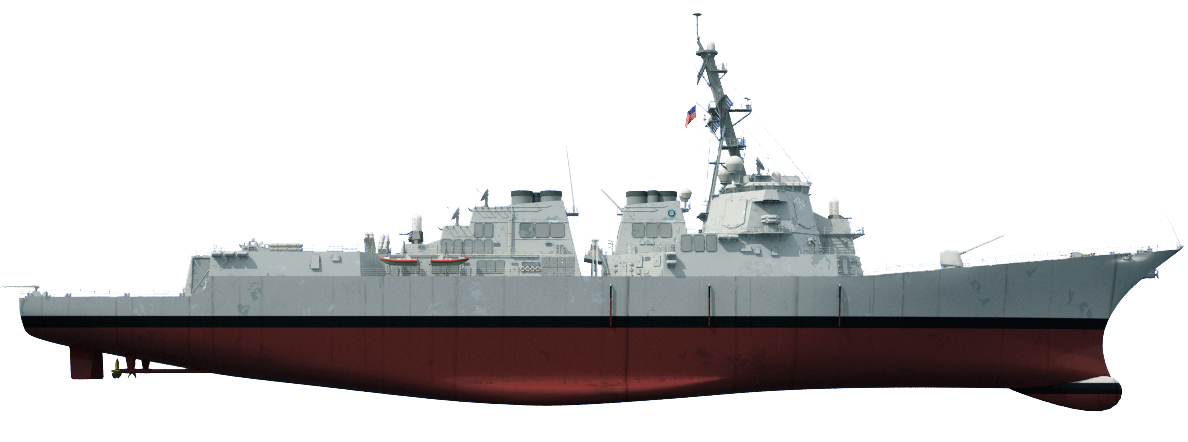 Ship with points of interest highlighted