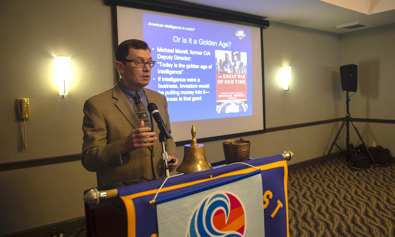 NPS Professor Updates Local Rotary on National Intel Challenges