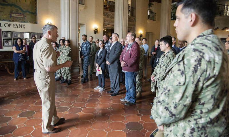 NSA Monterey Remembers Legendary Navy, Marine Corps Victory
