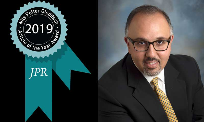 Dr. Mohammed Hafez, a professor in the NPS Department of National Security Affairs, is one of three collaborating authors recognized with the 2019 Nils Petter Gleditsch Journal of Peace Research (JPR) Article of the Year Award.