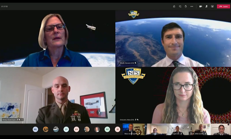 Astronaut, Aquanaut Shares Unconventional Leadership Journey During NPS Virtual Lecture