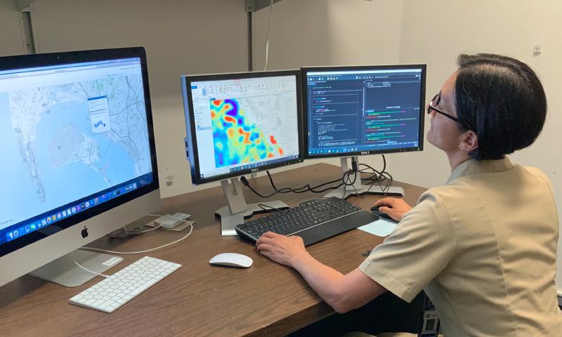 NPS Student Uses Multidisciplinary Approach to Study Sea Level Rise at Navy Installation