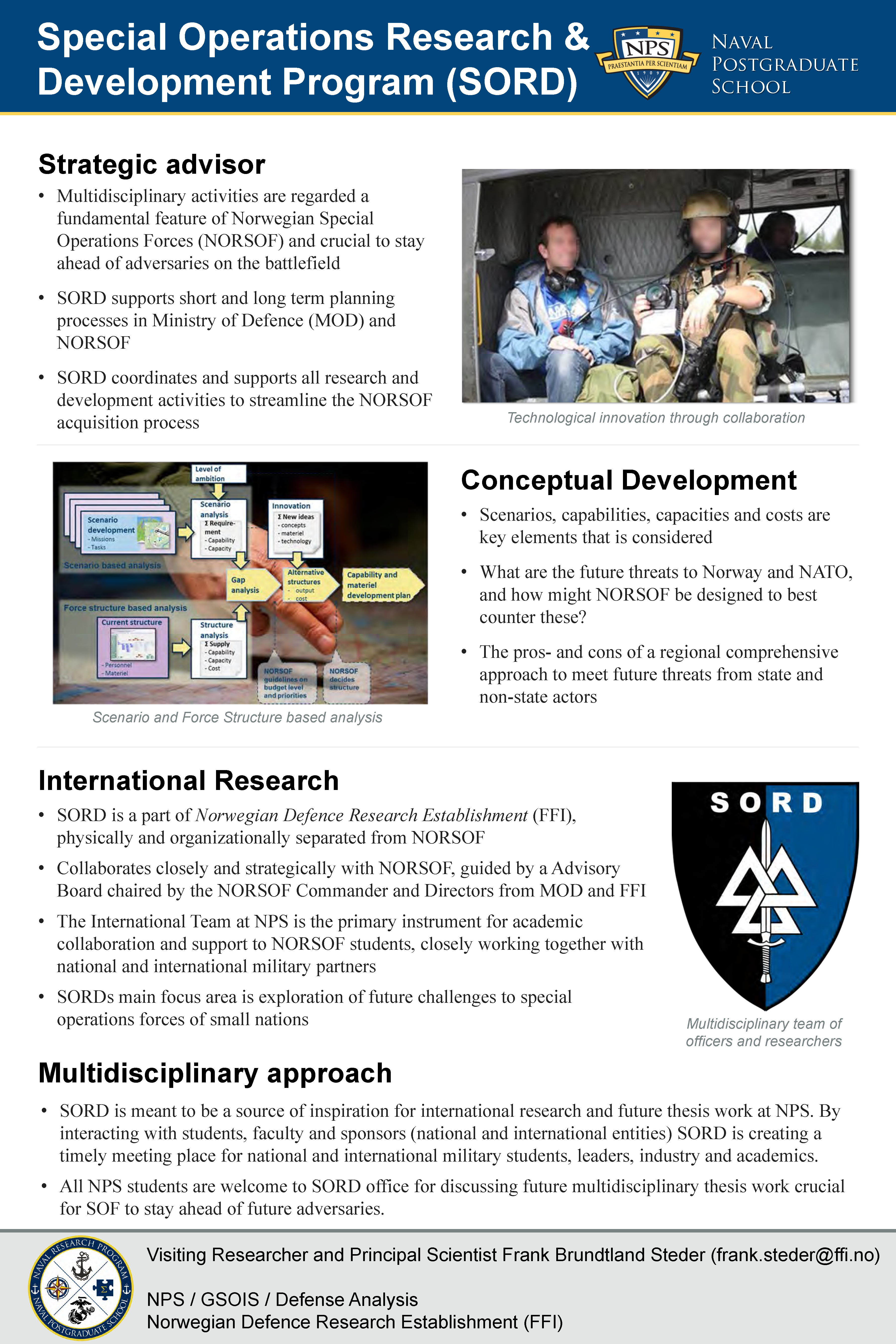 Special Operations Research & Development Program (SORD)