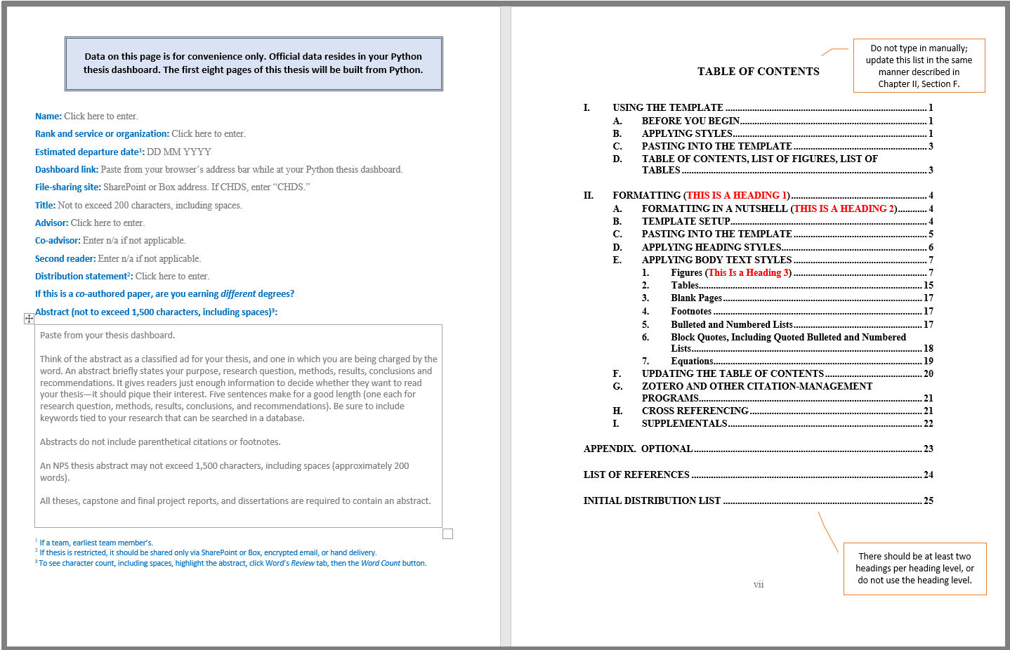 Nps Thesis Templates And Forms Thesis Processing Naval Postgraduate School