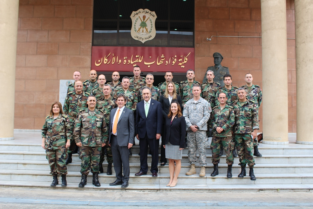 IDARM team with Lebanese Armed Forces Delegation