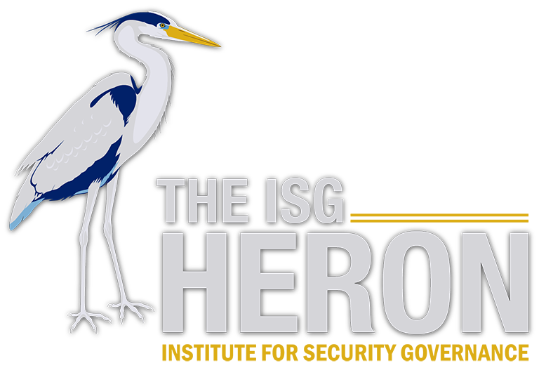 Cover of ISG activities report, the heron